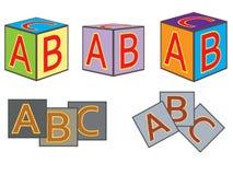 Abc bricks. Set of abc bricks  illustration Stock Images
