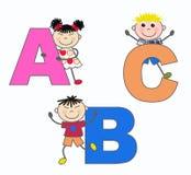 Abc- brieven royalty-vrije illustratie