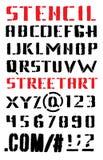 ABC Buchstaben eines Alphabetes in der Straßenkunstart stock abbildung