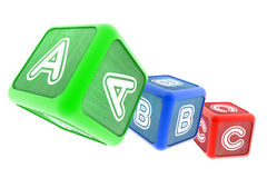 ABC Building Blocks. A Colourful 3d Rendered Illustration of ABC Building Blocks vector illustration