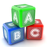 ABC Building Blocks. A Colourful 3d Rendered Illustration of ABC Building Blocks royalty free illustration