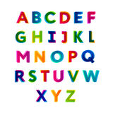 ABC Buntes Alphabet Stockbild
