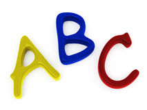 ABC candy letters Stock Photos