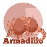 ABC Cartoon Armadillo2 Stock Photos