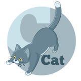 ABC Cartoon Cat3. Vector image of the ABC Cartoon Cat3 Stock Image