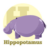 ABC Cartoon Hippopotamus. Vector image of the ABC Cartoon Hippopotamus4 stock illustration