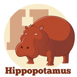 ABC Cartoon Hippopotamus2. Vector image of the ABC Cartoon Hippopotamus2 Stock Illustration