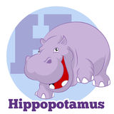 ABC Cartoon Hippopotamus3. Vector image of the ABC Cartoon Hippopotamus3 Royalty Free Illustration