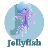 ABC Cartoon Jellyfish Royalty Free Stock Images