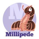 ABC Cartoon Millipede. Vector image of the ABC Cartoon Millipede Stock Photo