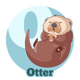 ABC Cartoon Otter. Vector image of the ABC Cartoon Otter Royalty Free Stock Images