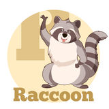 ABC Cartoon Raccoon. Vector image of the ABC Cartoon Raccoon3 Stock Photography