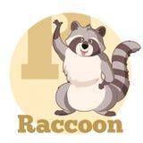 ABC Cartoon Raccoon. Vector image of the ABC Cartoon Raccoon3 stock illustration