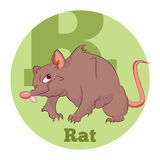 ABC Cartoon Rat. Vector image of the ABC Cartoon Rat Stock Images