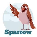 ABC Cartoon Sparrow Royalty Free Stock Image