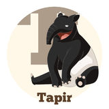 ABC Cartoon Tapir. Vector image of the ABC Cartoon Tapir royalty free illustration