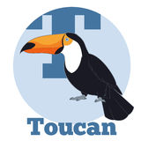 ABC Cartoon Toucan. Vector image of the ABC Cartoon Toucan Vector Illustration