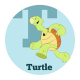 ABC Cartoon Turtle2. Vector image of the ABC Cartoon Turtle Royalty Free Stock Photos
