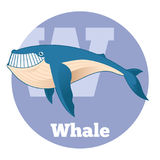 ABC Cartoon Whale2. Vector image of the ABC Cartoon Whale Royalty Free Illustration