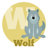 ABC Cartoon Wolf Royalty Free Stock Images