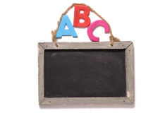 Abc with chalk board Stock Photos