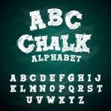 ABC Chalk Typeface Alphabet Blackboard.  Stock Illustration