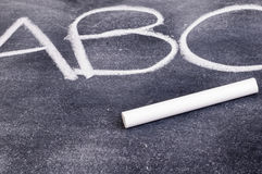 ABC on Chalkboard Royalty Free Stock Photos