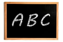 ABC Chalkboard Royalty Free Stock Photography
