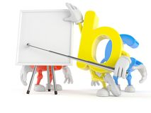 ABC character with blank whiteboard. On white background stock illustration