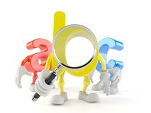 ABC character looking through magnifying glass. Isolated on white background royalty free illustration