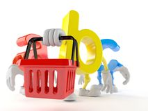 ABC character with shopping basket Stock Photo