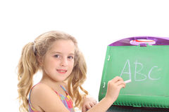 ABC child. Shot of a young child learning ABC Stock Photo