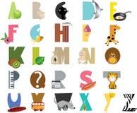 ABC for children. Editable vector ABC for children stock illustration