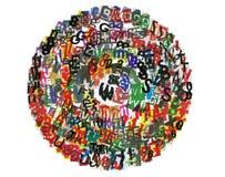abc-cirkeltidning Royaltyfri Fotografi