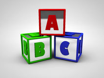 ABC colored alphabet letters 3d render. Illustration Stock Image
