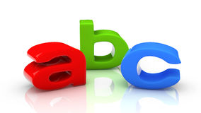 ABC colored letters Stock Photography