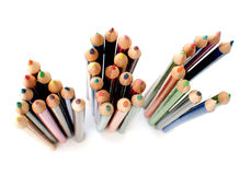 ABC colored pencils Royalty Free Stock Photography