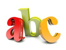 Abc colorful letters Stock Photo