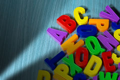 ABC - Colorful Magnetic Letters Stock Image