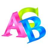 ABC colorido ilustração royalty free