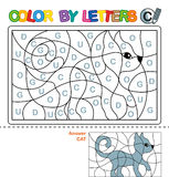 ABC Coloring Book for children. Color by letters. Learning the capital letters of the alphabet. Puzzle for children. Letter C. Cat royalty free illustration