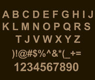 ABC com tijolo da parede texture Fotografia de Stock Royalty Free