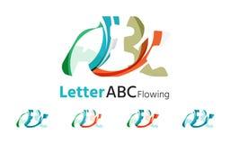 Abc company logo set. Vector illustration Royalty Free Stock Photos