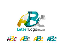 Abc company logo set. Vector illustration Stock Image