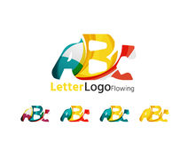 Abc company logo set. Vector illustration Royalty Free Stock Photography