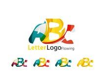 Abc company logo set. Vector illustration Royalty Free Stock Photography