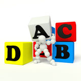 Abc cube block Royalty Free Stock Images