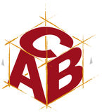 ABC cube (vector). Illustration of isometric cube with ABC letters stock illustration