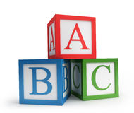 Abc cubes. Isolated on white stock illustration