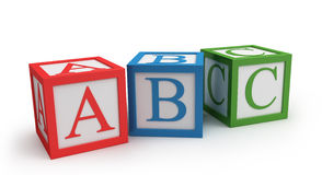 Abc cubes. Isolated on white royalty free illustration